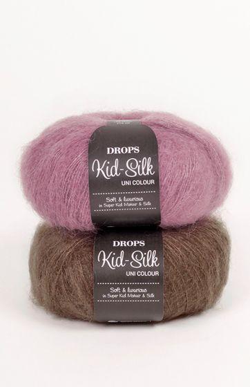 c4e8458e1157 Mespelotes.com ♥ Laine mohair (kidsilk) et soie - DROPS kid-silk