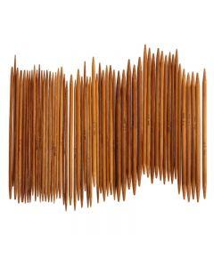 Aiguilles double pointe en bambou 13cm